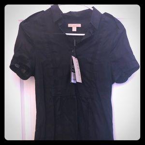 Brand NWT Burberry Brit Short Sleeved Tunic Black